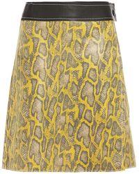 Stand Studio Elene Snake-effect Leather Mini Wrap Skirt - Brown
