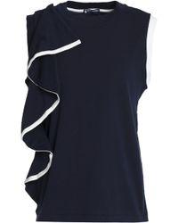 Petit Bateau - Ruffled Cotton-jersey Top - Lyst