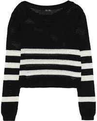 Splendid - Striped Open-knit Cotton-blend Jumper - Lyst