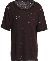 Koral - Distressed Slub Jersey T-shirt - Lyst