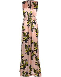 ROKSANDA - Gathered Printed Silk-satin Jumpsuit - Lyst