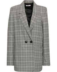 Anine Bing - Oversized Prince Of Wales Checked Jacquard Blazer Black - Lyst