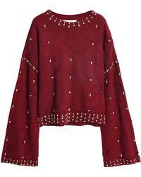 Jonathan Simkhai - Embellished Wool Jacquard Jumper - Lyst