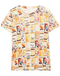 Zimmermann Brightside Printed Slub Linen-jersey T-shirt - Yellow