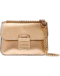MICHAEL Michael Kors | Metallic Snake-effect Leather Shoulder Bag | Lyst