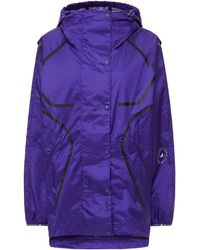 adidas By Stella McCartney Printed Shell Hooded Track Jacket Purple