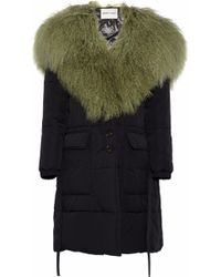 Sandy Liang - Sage Shearling-paneled Quilted Shell Coat - Lyst