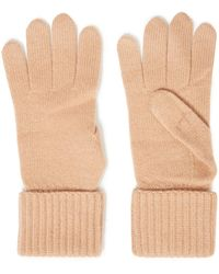 N.Peal Cashmere Cashmere Gloves - Natural