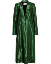 Jason Wu - Woman Satin Coat Green - Lyst