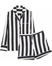 Iris & Ink - Devon Striped Stretch-silk Pyjama Set - Lyst