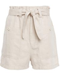 Joie Lindsi Belted Twill Shorts - Natural