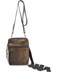 Rick Owens Supply Pouch Metallic Calf Hair Shoulder Bag