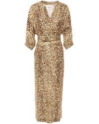 Zimmermann Espionage Belted Leopard-print Silk Crepe De Chine Midi Dress Animal Print - Multicolour
