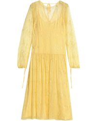 Day Birger et Mikkelsen - Gathered Corded Lace Midi Dress - Lyst