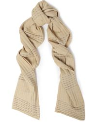 M Missoni - Metallic Crochet-knit Scarf - Lyst