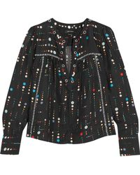 Isabel Marant - Raynor Printed Silk Blouse - Lyst