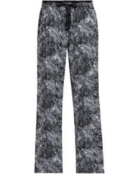 Calvin Klein - Woman Printed Cotton-poplin Pajama Pants Black - Lyst