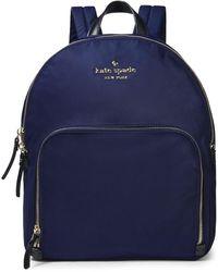 Kate Spade Watson Lane Hartley Shell Backpack Navy - Blue