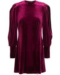 Rebecca Minkoff - Open-back Velvet Mini Dress Grape - Lyst