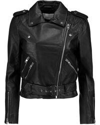 W118 by Walter Baker Allison Leather Biker Jacket - Black
