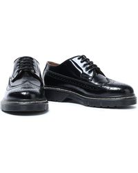 JOSEPH Perforated Leather Brogues Black