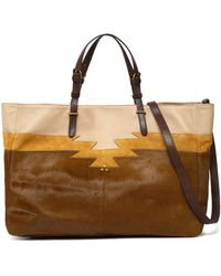 Jérôme Dreyfuss - Leather, Suede And Calf Hair Tote - Lyst