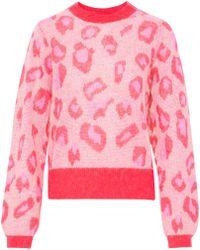 Baum und Pferdgarten - Leopard-print Open-knit Sweater - Lyst