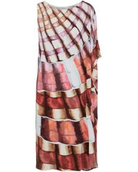 Mara Hoffman - Asymmetric Printed Stretch-modal Dress - Lyst
