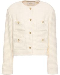 Maje Cotton-tweed Jacket Ecru - Multicolour
