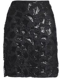 IRO - Sequined Guipure Lace Mini Skirt - Lyst