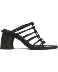 Ann Demeulemeester Woven Leather Mules Black