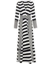 We Are Leone Striped Silk Crepe De Chine Jacket - White