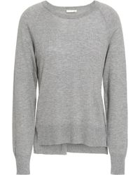 Skin Mélange Wool, Modal And Cashmere-blend Pyjama Top Stone - Gray
