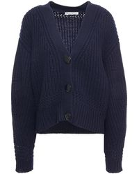 Autumn Cashmere Knitted Cardigan Navy - Blue