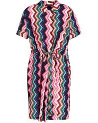 Raoul - Printed Crepe Shirt Dress - Lyst