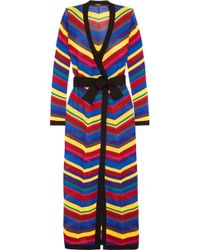 Balmain | Crocheted Maxi Wrap Dress | Lyst
