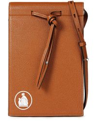 Lanvin Textured-leather Travel Wallet Light Brown