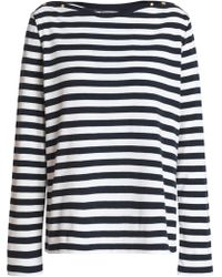Petit Bateau - Striped Cotton-jersey Top - Lyst