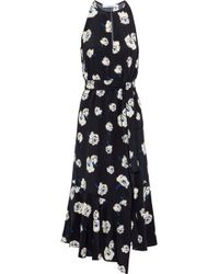 10 Crosby Derek Lam - Belted Floral-print Silk Midi Dress - Lyst