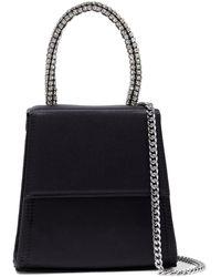 RIXO London Violet Croc-effect Leather Shoulder Bag - Black