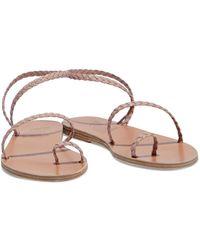 Ancient Greek Sandals Eleftheria Braided Leather Sandals - Multicolour