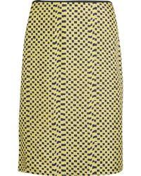 Kéji Knee Length Skirt - Yellow