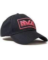 McQ Logo-embroidered Cotton-twill Cap Black