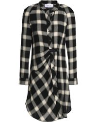 10 Crosby Derek Lam - Gathered Checked Flannel Shirt Dress - Lyst