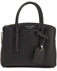 Kate Spade Margaux Mini Pebbled-leather Tote - Black