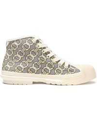 Tory Burch Rubber-paneled Jacquard Trainers Cream - Natural