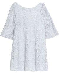Badgley Mischka - Metallic Lace Mini Dress - Lyst