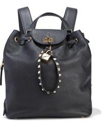 Valentino Garavani Joylock Textured-leather Backpack - Black