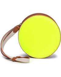 Diane von Furstenberg - Color-block Neon Leather Clutch Bright Yellow - Lyst