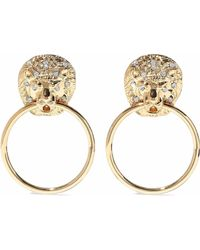 Kenneth Jay Lane - Gold-tone Crystal Hoop Earrings - Lyst